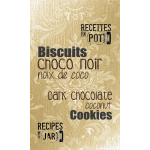 Dark chocolate and coconut cookies